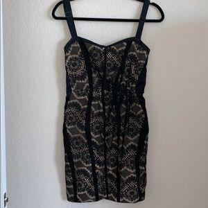 RAG & BONE 2 black & nude very sexy stretch dress